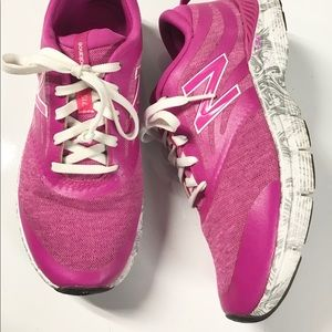 New Balance pink/paisley running shoes 7.5